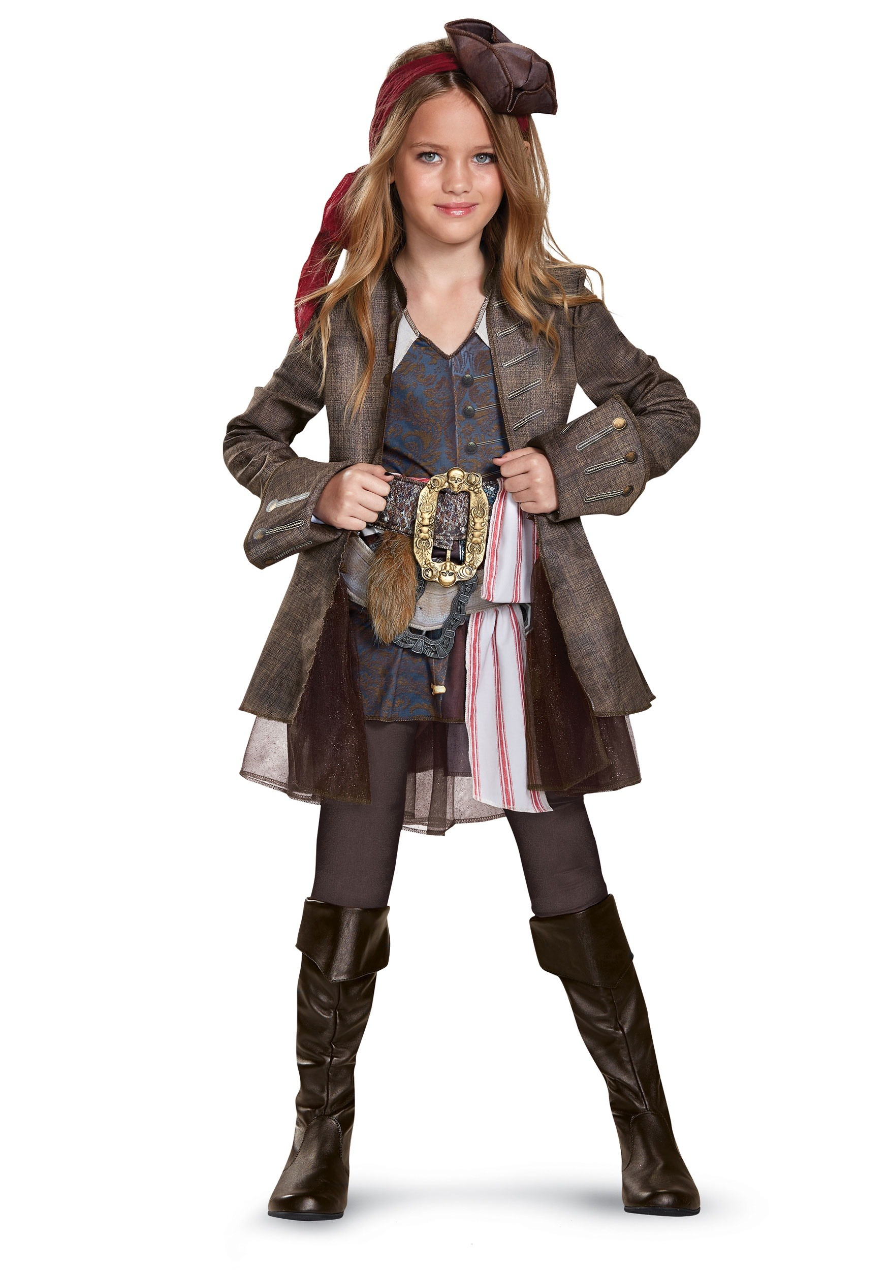 captain jack sparrow girls deluxe costume - Jack Sparrow Halloween Costumes