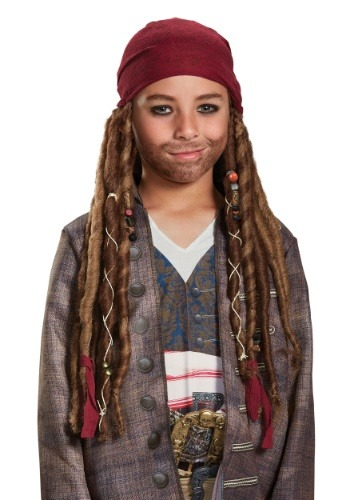 Click Here to buy Jack Sparrow Kids Bandana & Dreads Kit from HalloweenCostumes, CDN Funds