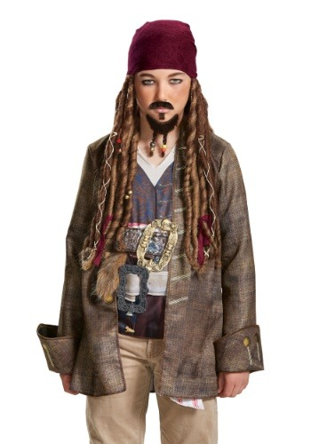 Click Here to buy Kids Jack Sparrow Goatee & Mustache from Pirates of the Caribbean from HalloweenCostumes, USA Funds & Shipping