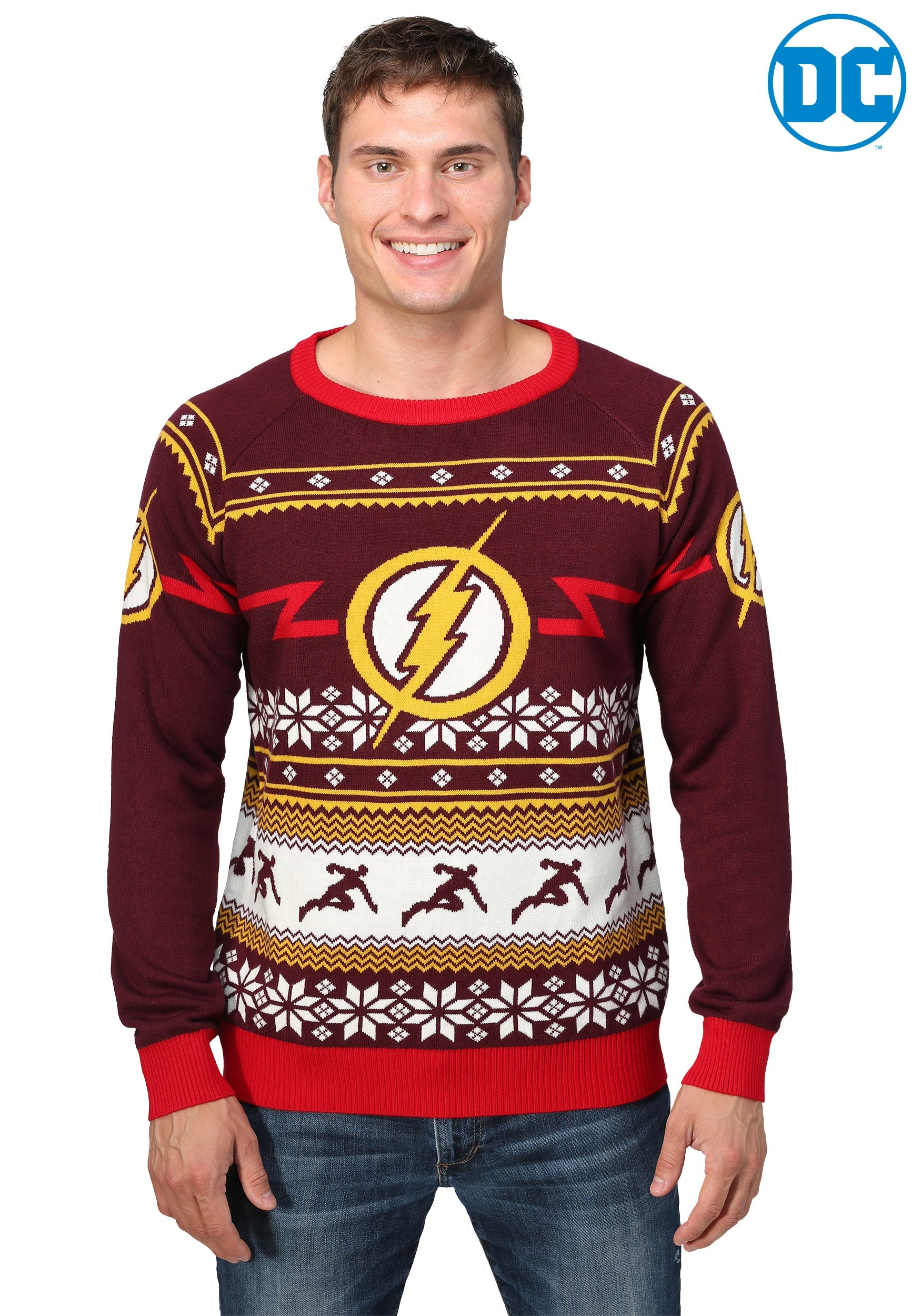 flash logo mens holiday sweater flash logo mens holiday sweater