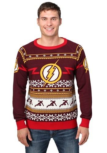 Flash Logo Mens Ugly Christmas Sweater