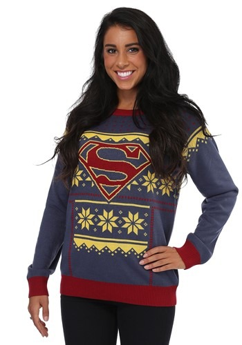 Womens Superman Ugly Christmas Sweater