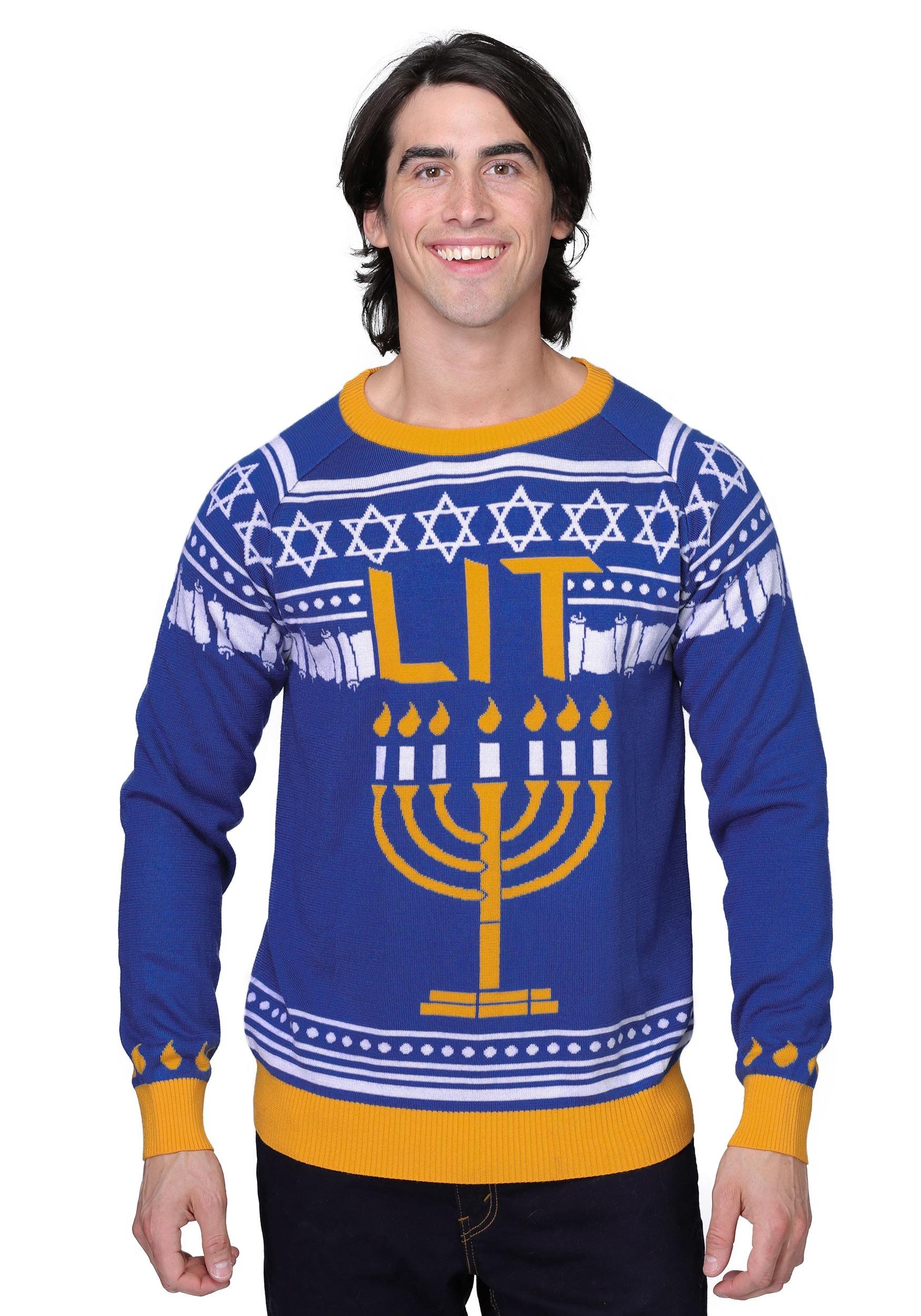 c60d61dca Hanukkah Menorah Ugly Holiday Sweater