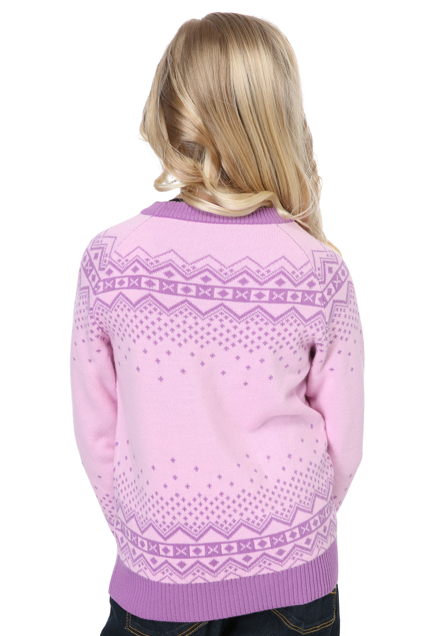 girls pink reindeer sweater - Pink Ugly Christmas Sweater