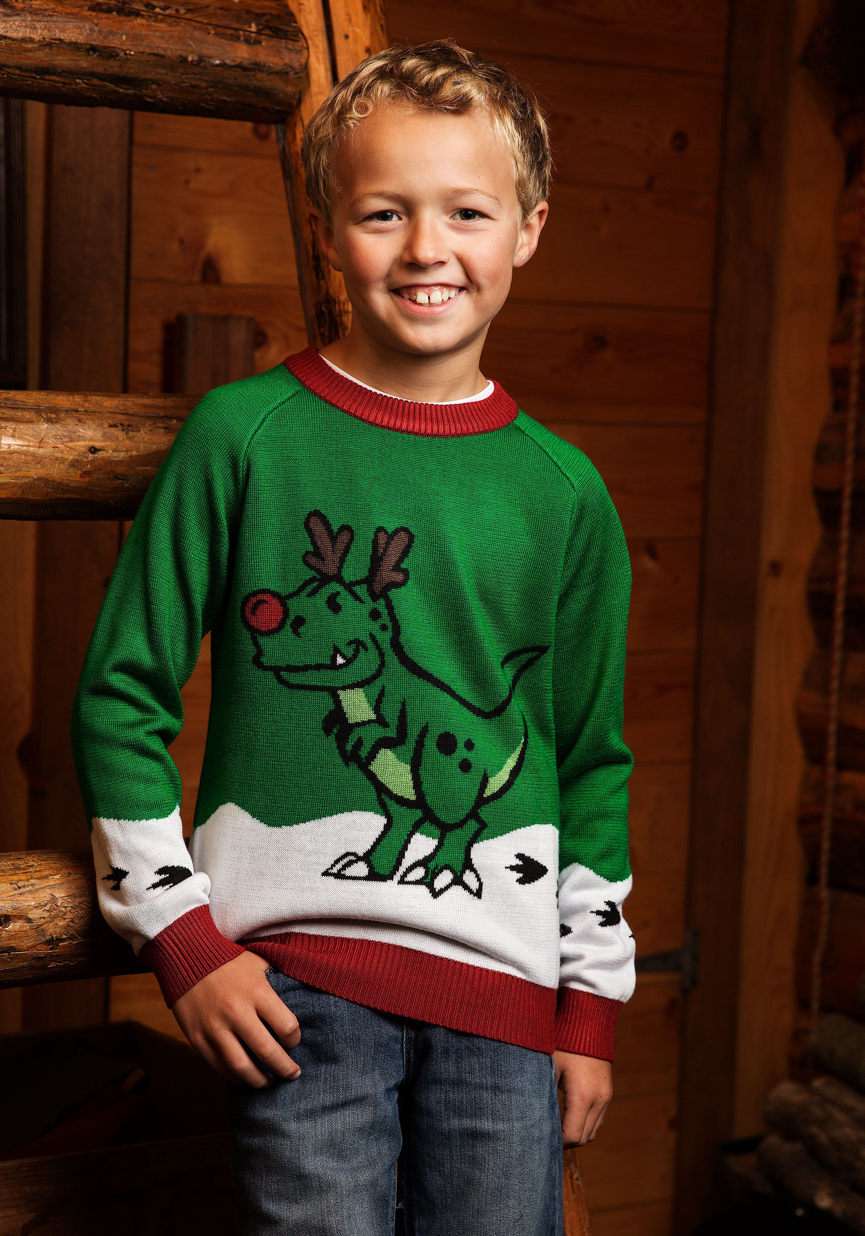 REINDEER ON FRONT BABY BOYS CHRISTMAS JUMPERS GET READY FOR CHRISTMAS
