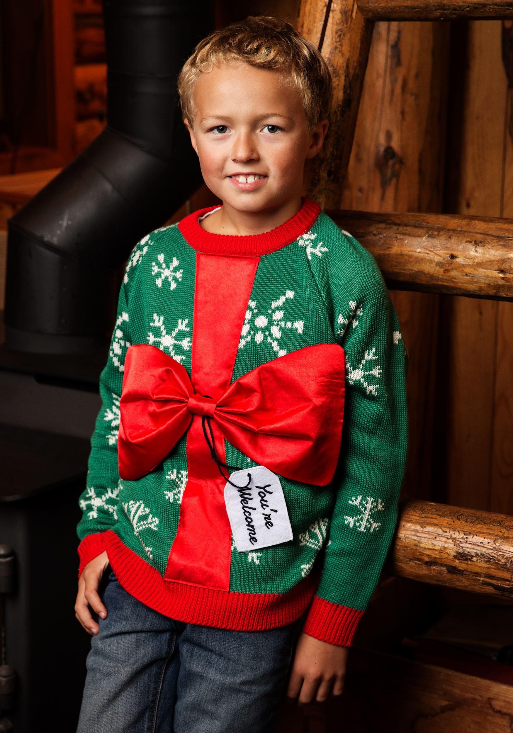 Kid\u0027s Present Ugly Christmas Sweater