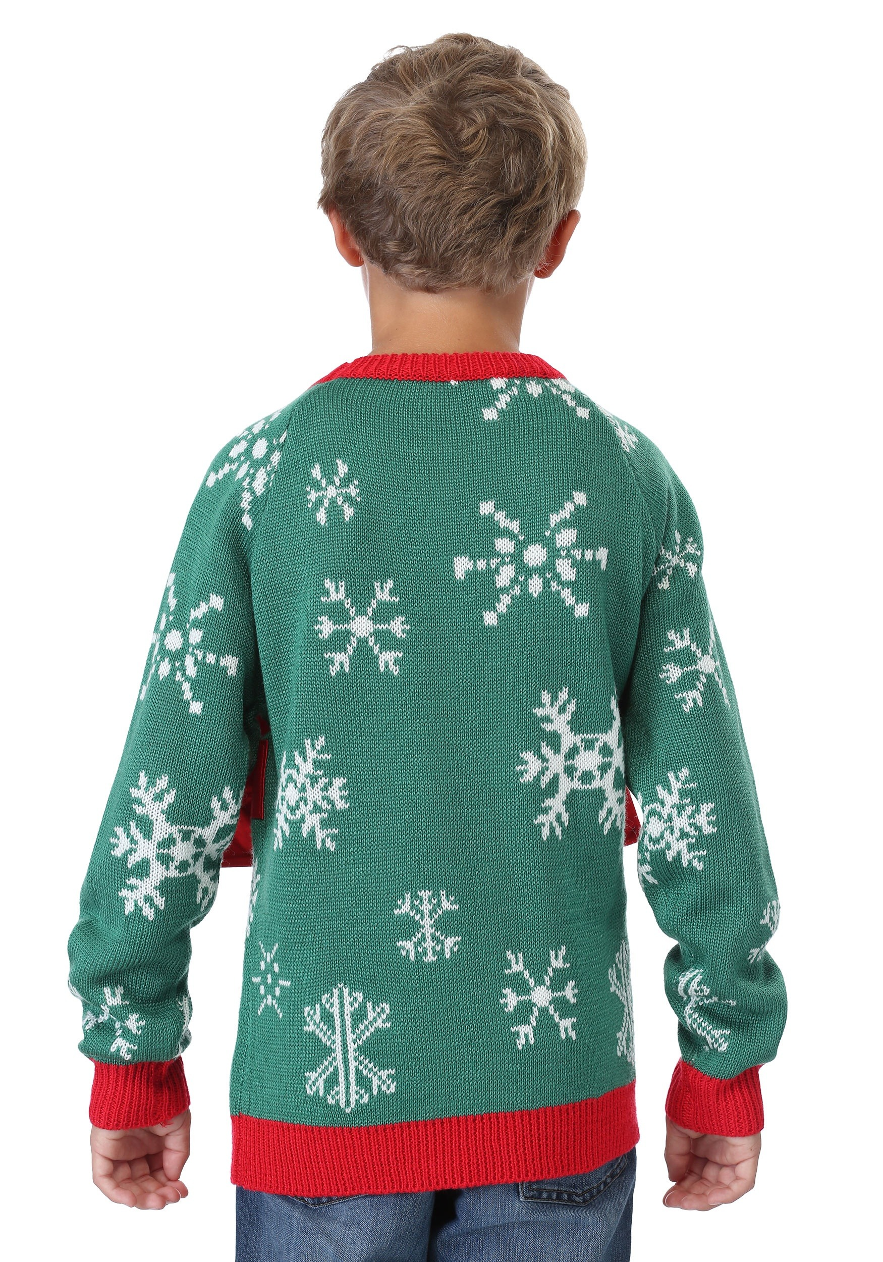 kids present holiday sweater - Ugly Christmas Sweater Dinosaur