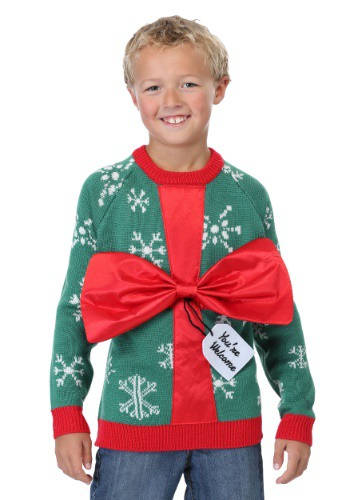 Kids Present Ugly Christmas Sweater