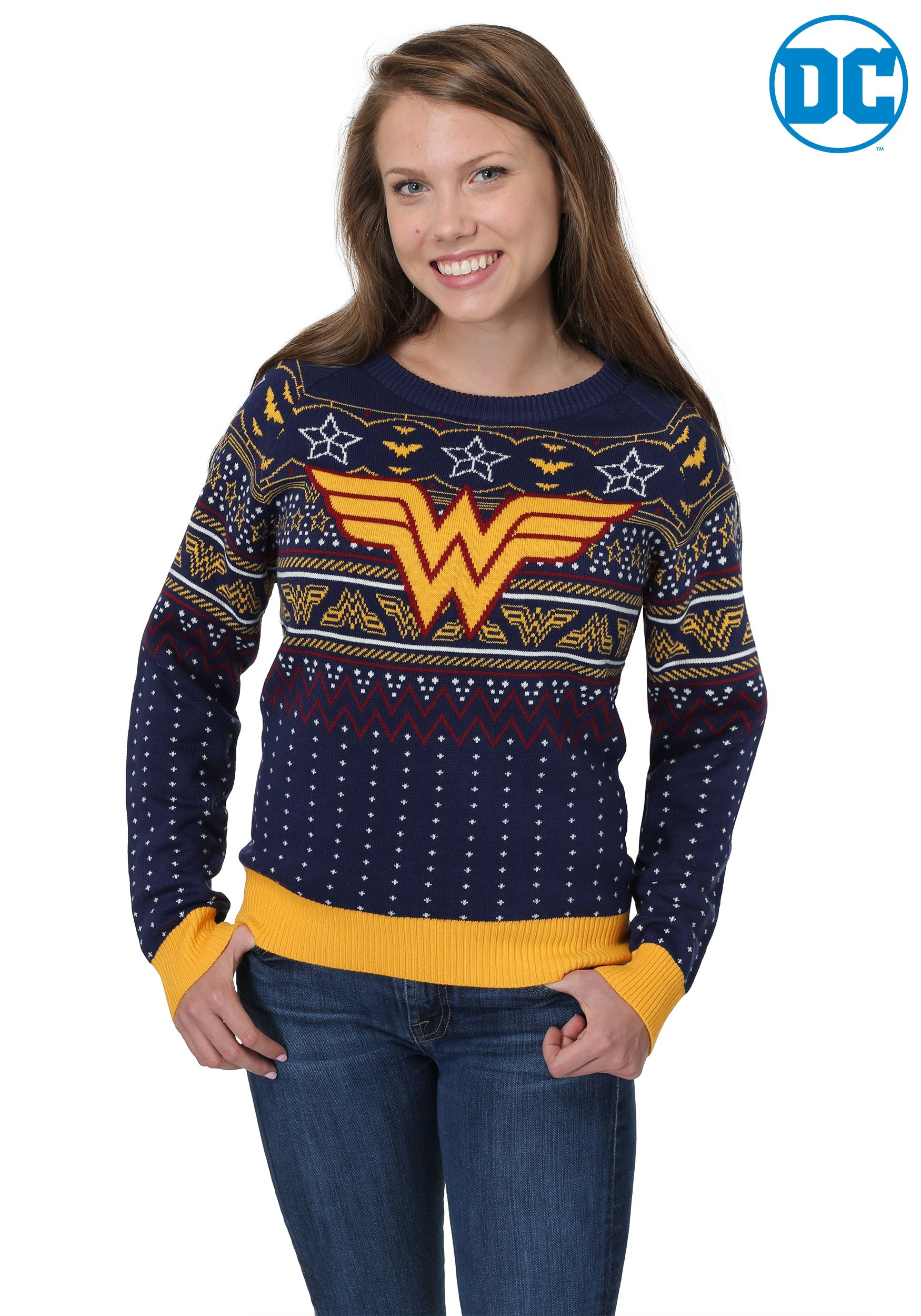 Wonder Woman Navy Women S Ugly Christmas Sweater