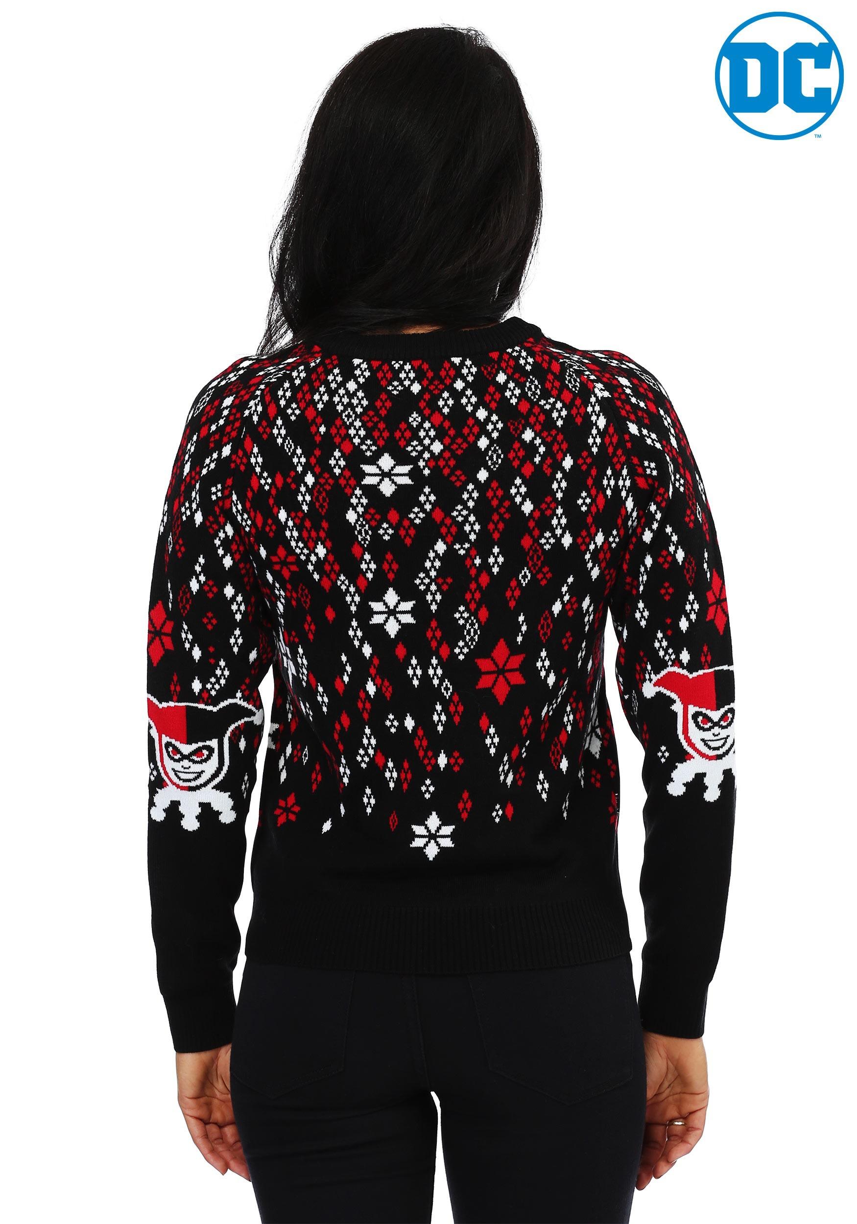 harley quinn diamond womens ugly christmas sweater - Christmas Jacket