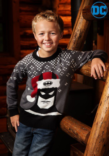 Batman Holiday Hat Kids Sweater