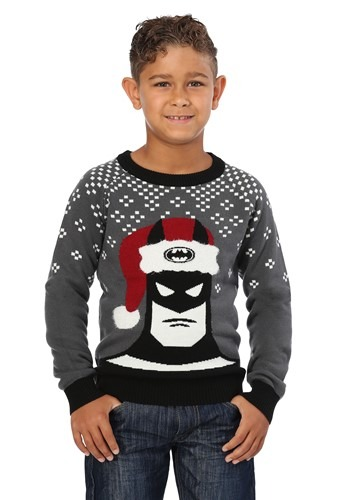 Batman Holiday Hat Kids Ugly Christmas Sweater
