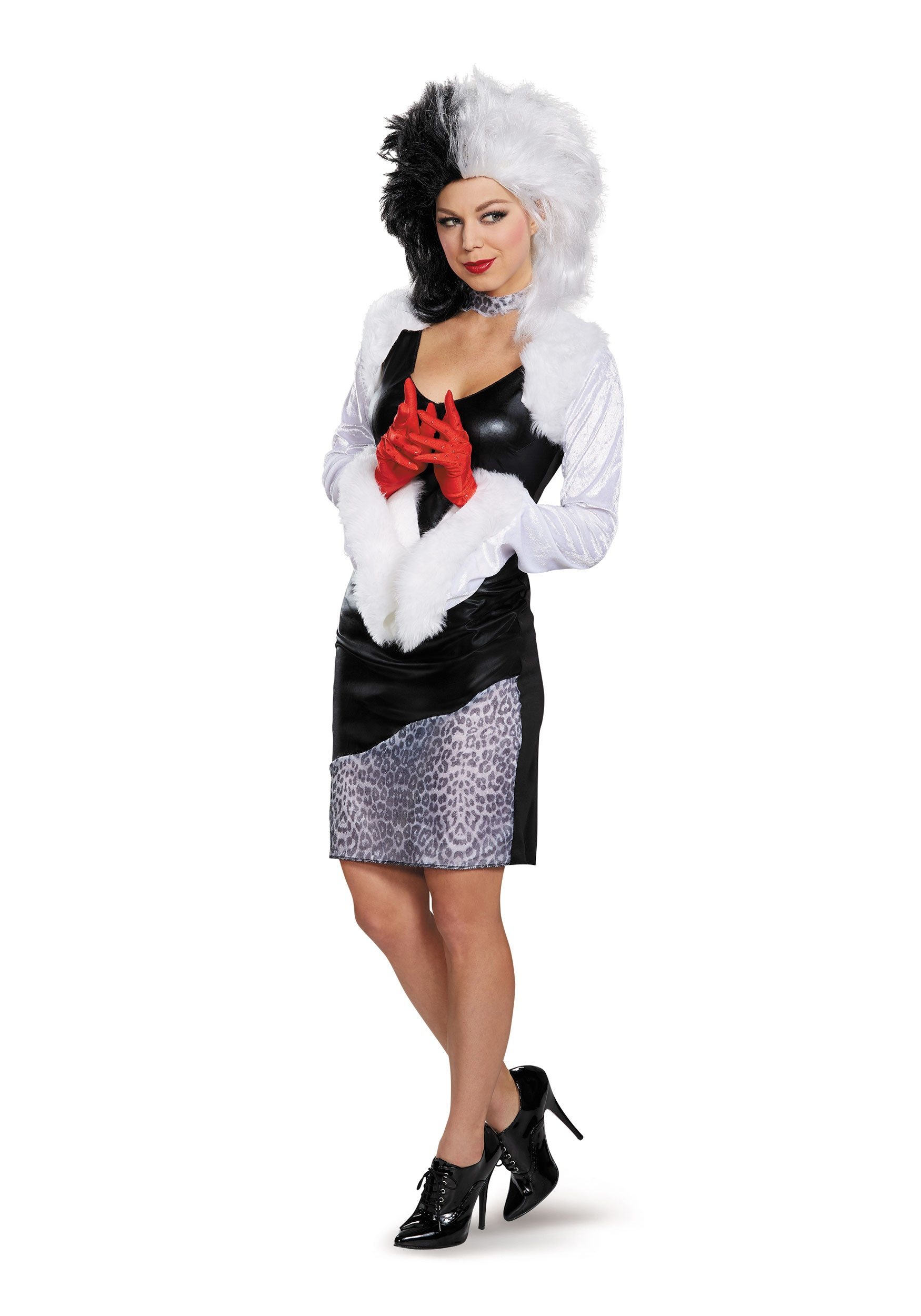 sassy cruella devil women 39 s costume. Black Bedroom Furniture Sets. Home Design Ideas