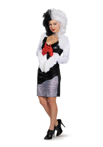 Click Here to buy Sassy Cruella DeVil Womens Costume from HalloweenCostumes, USA Funds & Shipping