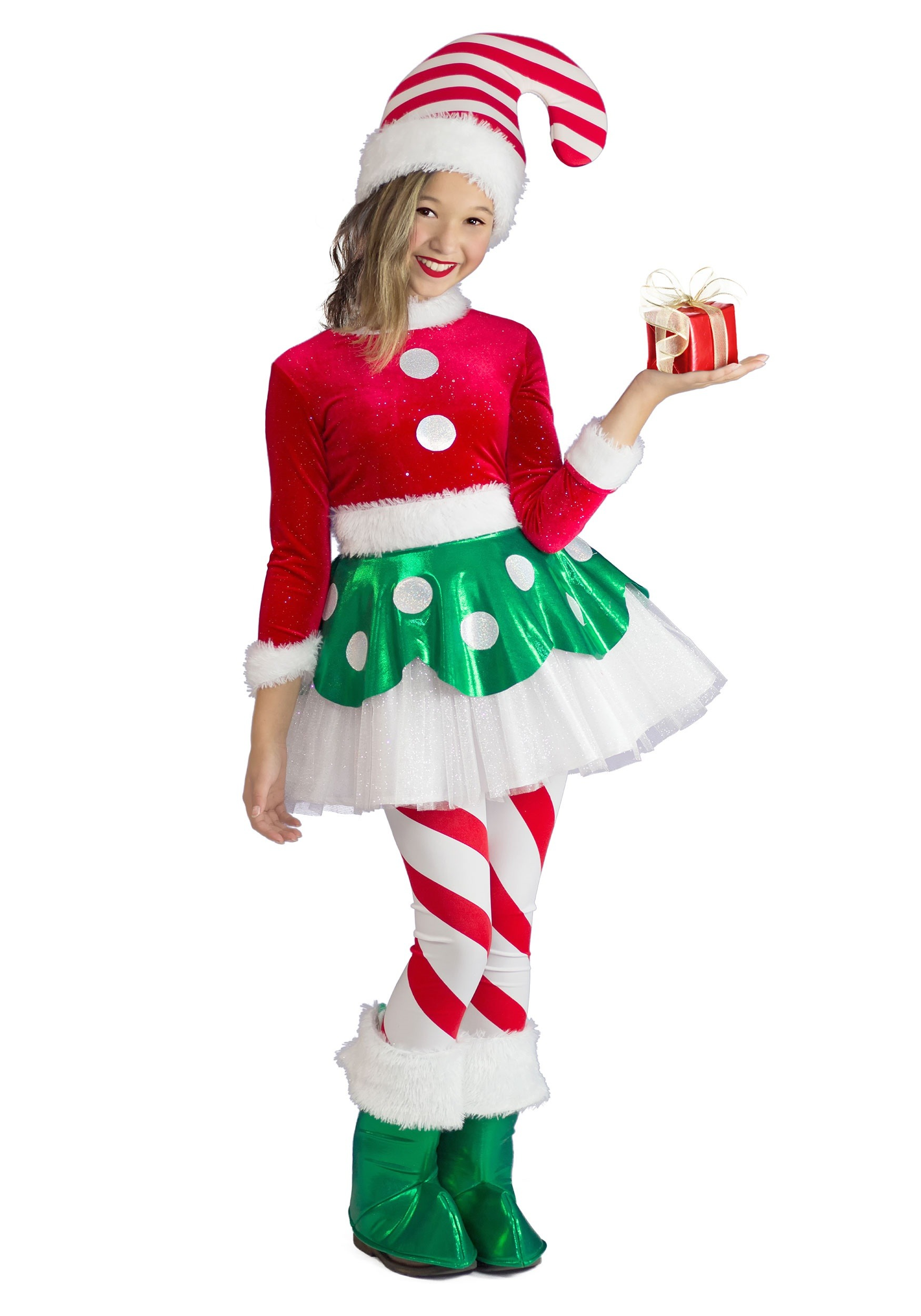 Candy Cane Elf Princess Costume for Toddlers