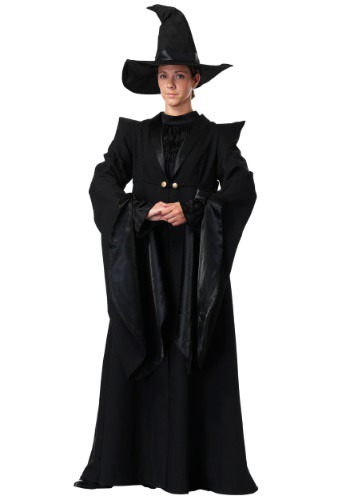 Click Here to buy Adult Deluxe Plus Size Professor McGonagall Costume XL 1X 2X 3X from HalloweenCostumes, CDN Funds