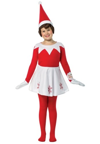 Click Here to buy Elf on the Shelf Girls Costume from HalloweenCostumes, CDN Funds