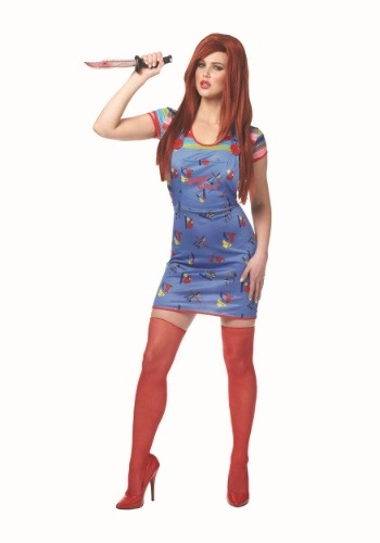 Click Here to buy Sexy Chucky Womens Costume from HalloweenCostumes, USA Funds & Shipping
