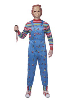chucky plus size mens costume - Size 18 Halloween Costumes