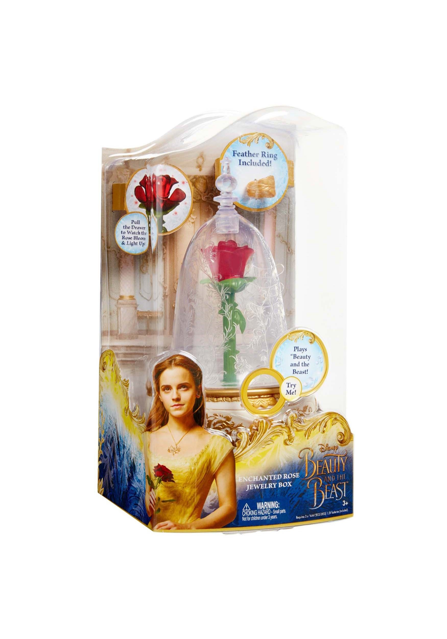 Disney Beauty and the Beast Jewelry Box (Enchanted Rose) Disney Beauty and the Beast Jewelry Box (Enchanted Rose) Description: Disney's Beauty and the Beast is the fantastic journey of Belle, a bright, beautiful and independent young woman who is taken prisoner by a beast in his castle.