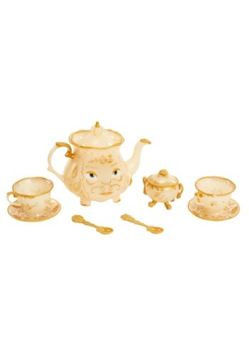 Click Here to buy Beauty and the Beast Enchanted Tea Set from HalloweenCostumes, USA Funds & Shipping