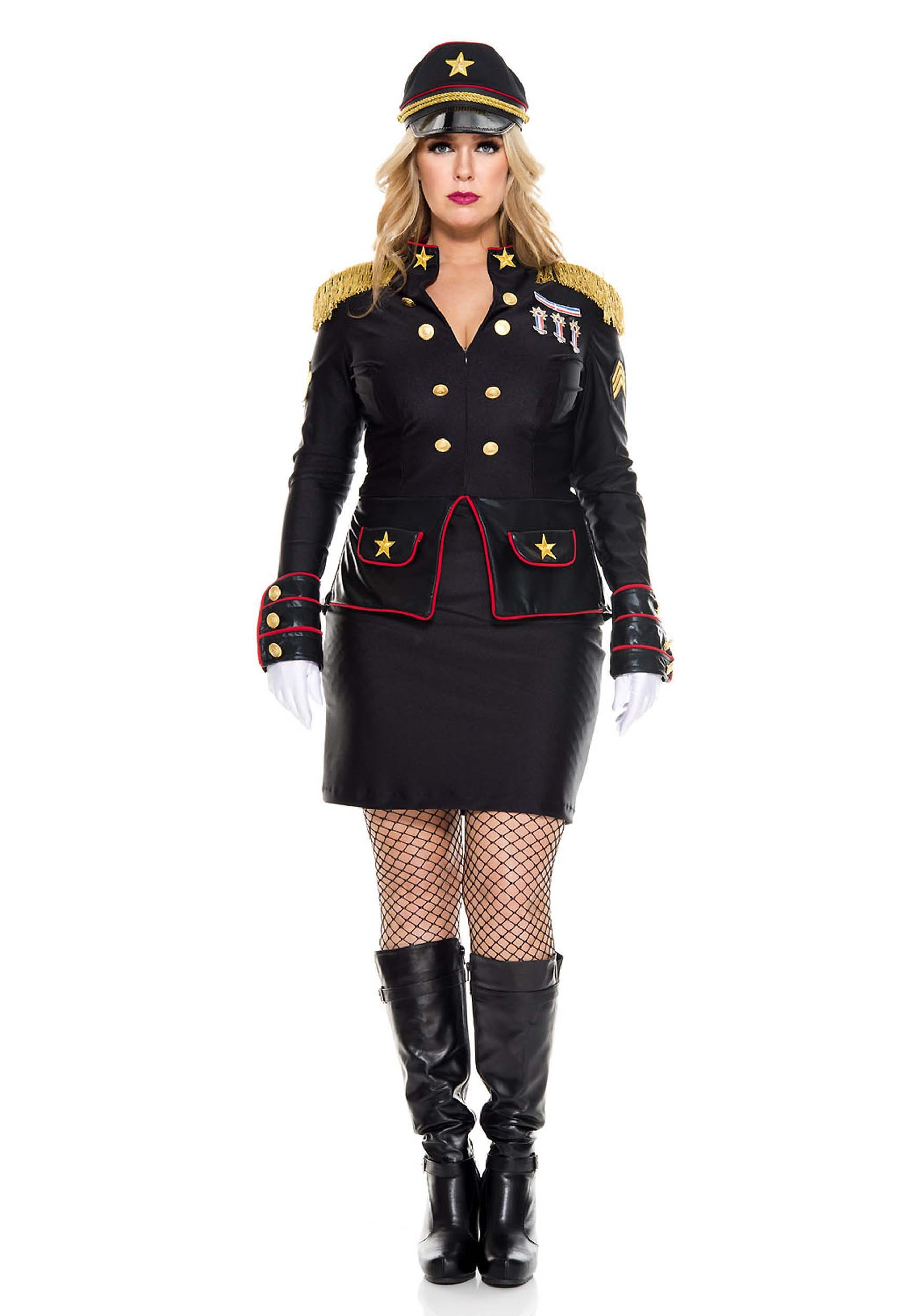 Plus Size Military General Costume for Women 1X/2X 3X/4X