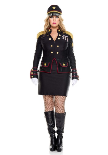 Womens Plus Size Military General Costume
