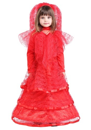 Toddler Gothic Red Wedding Dress