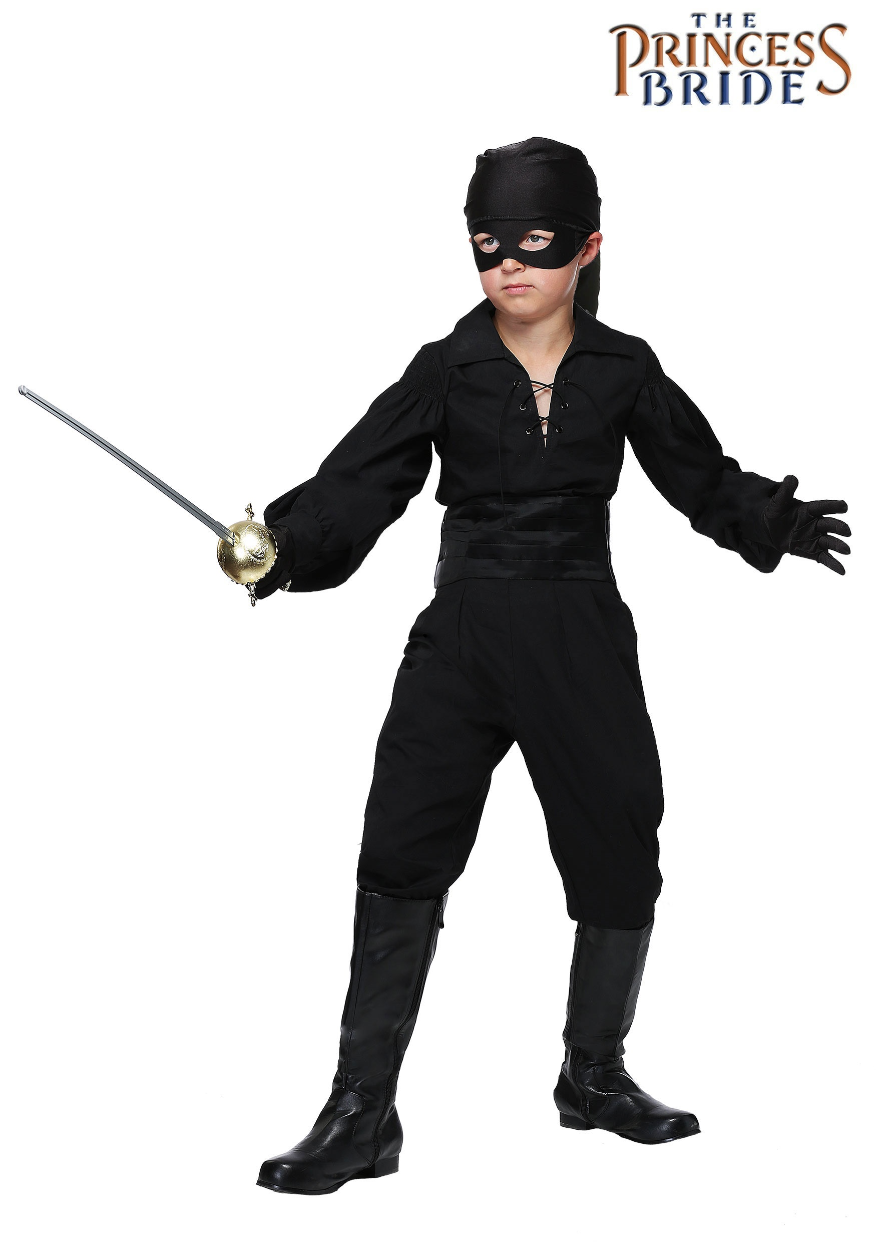 THE PRINCESS BRIDE WESTLEY BOYS COSTUME dread pirate roberts boy child kids outfit