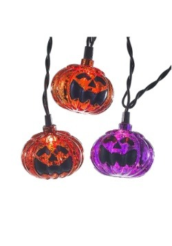 Orange and Purple Pumpkin Light Set