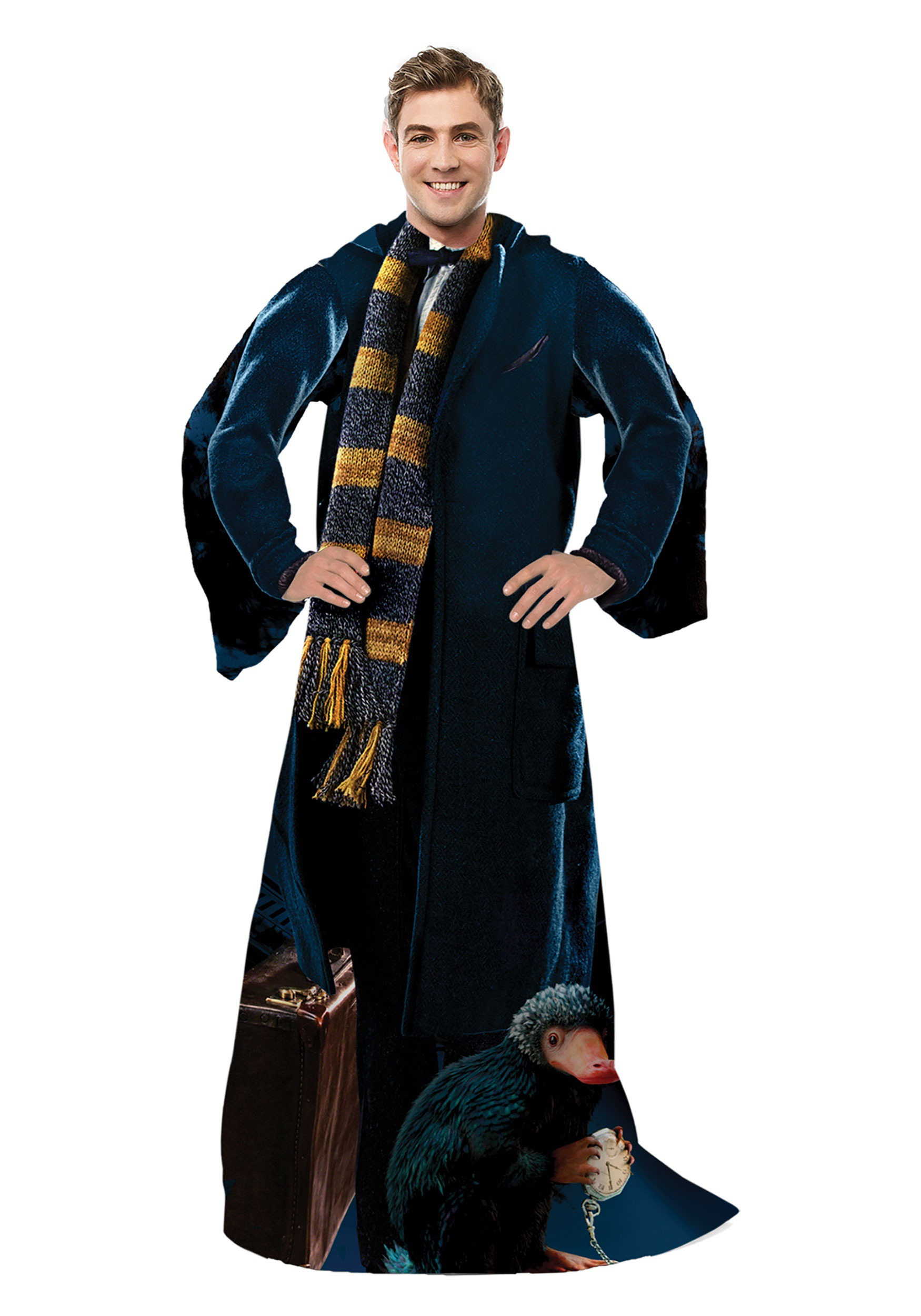 Fantastic Beasts Newt Adult Comfy Throw Blanket