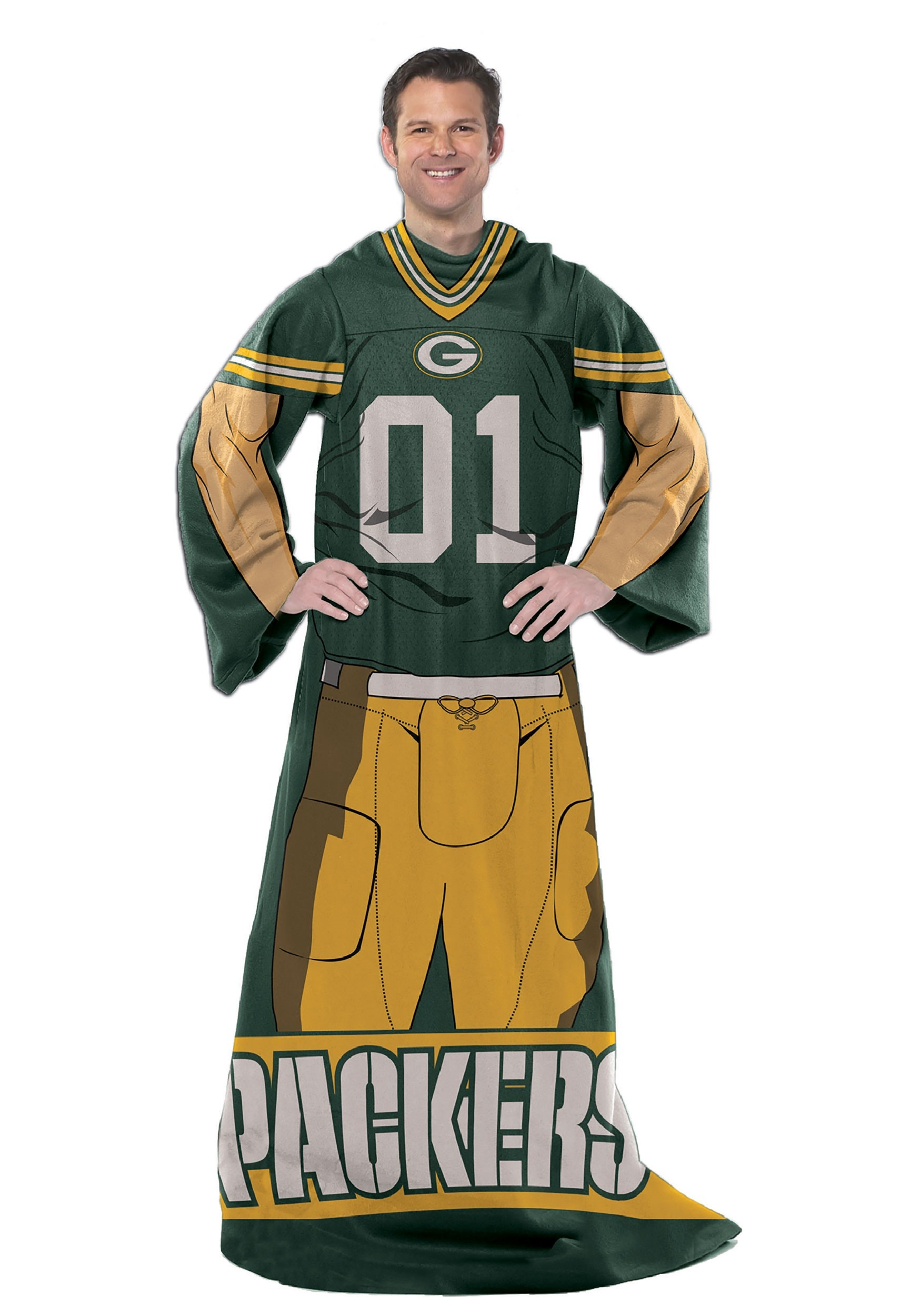 huge selection of 5f6a7 7a1fa Green Bay Packers Uniform Comfy Costume Throw