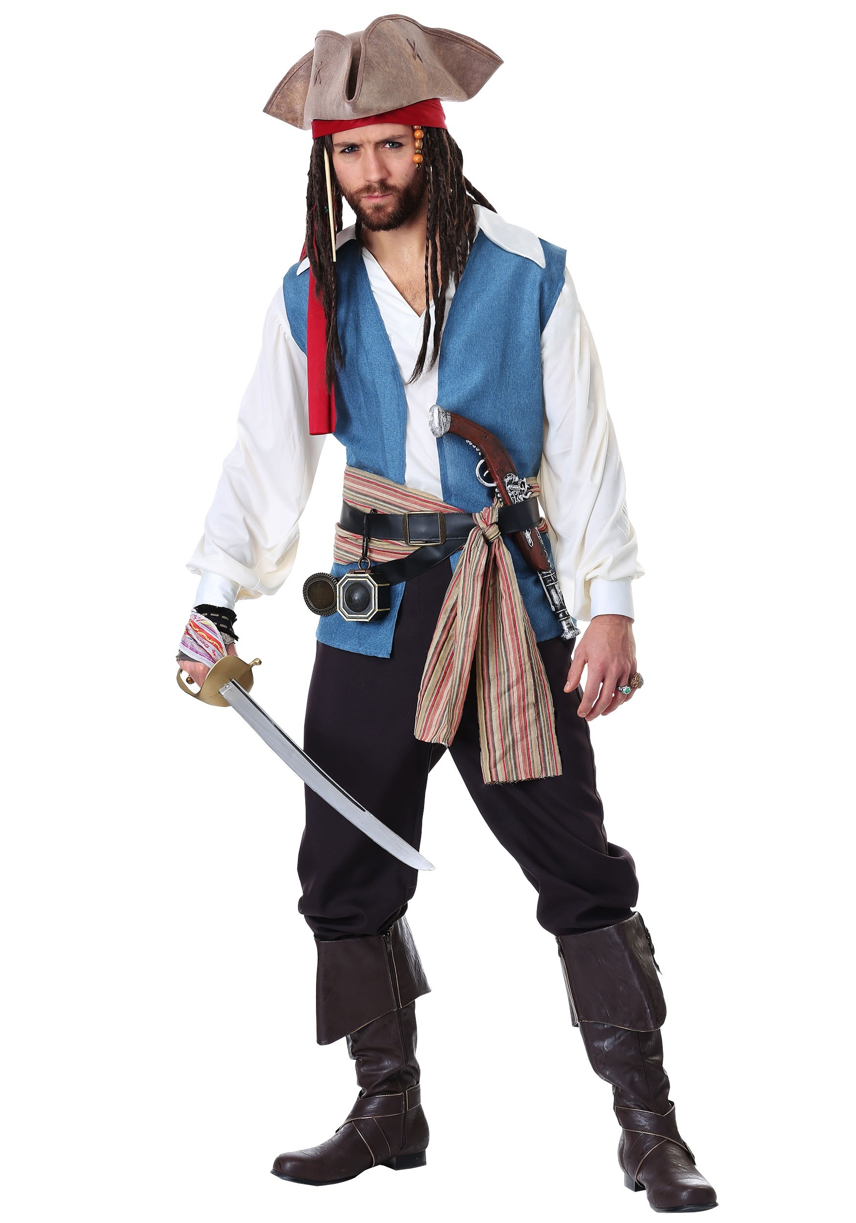 Sparrow Pirate Costume For Plus Size Men 2x 3x
