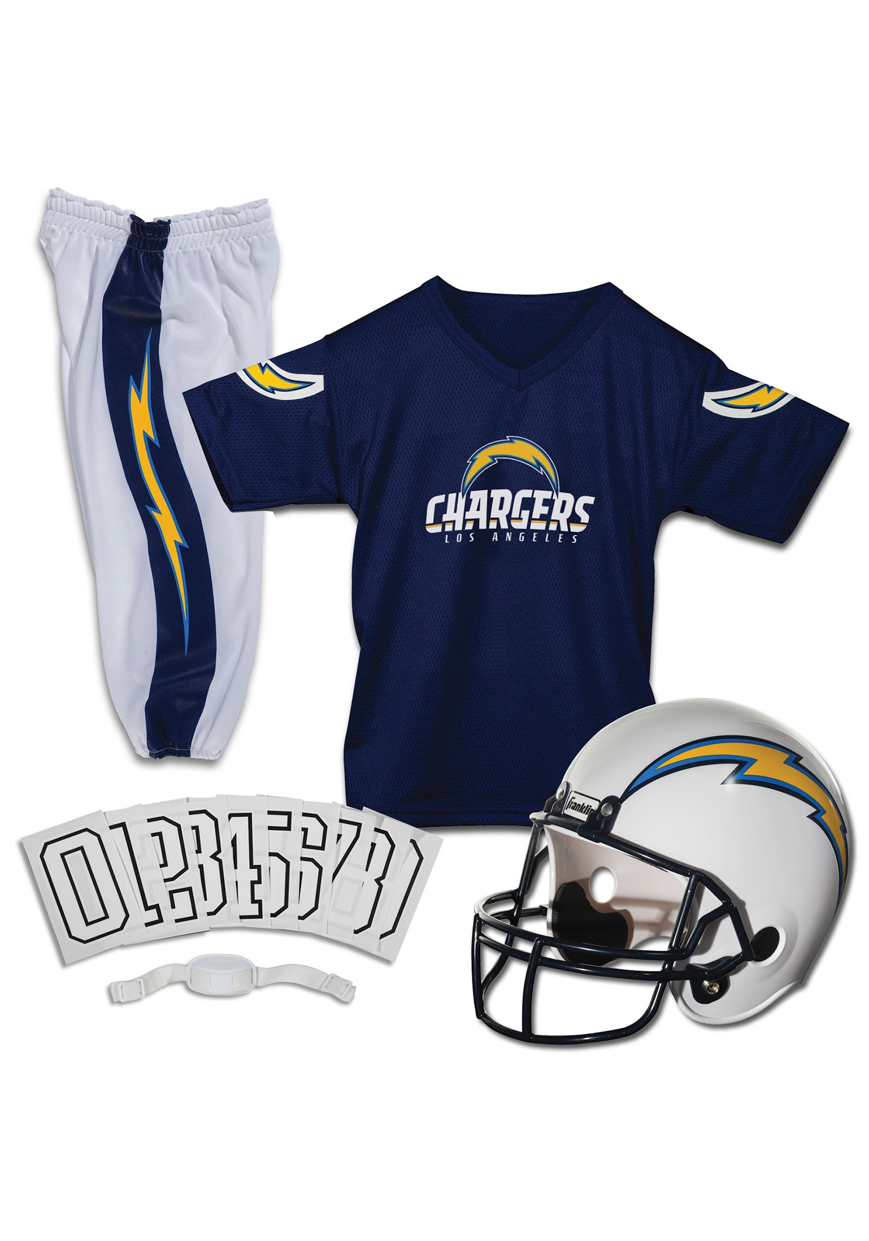 68b9bc31 Kids Chargers NFL Deluxe Helmet/Uniform Costume Set
