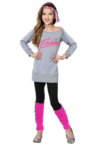 Click Here to buy Officially Licensed Kids Flashdance Costume from HalloweenCostumes, USA Funds & Shipping