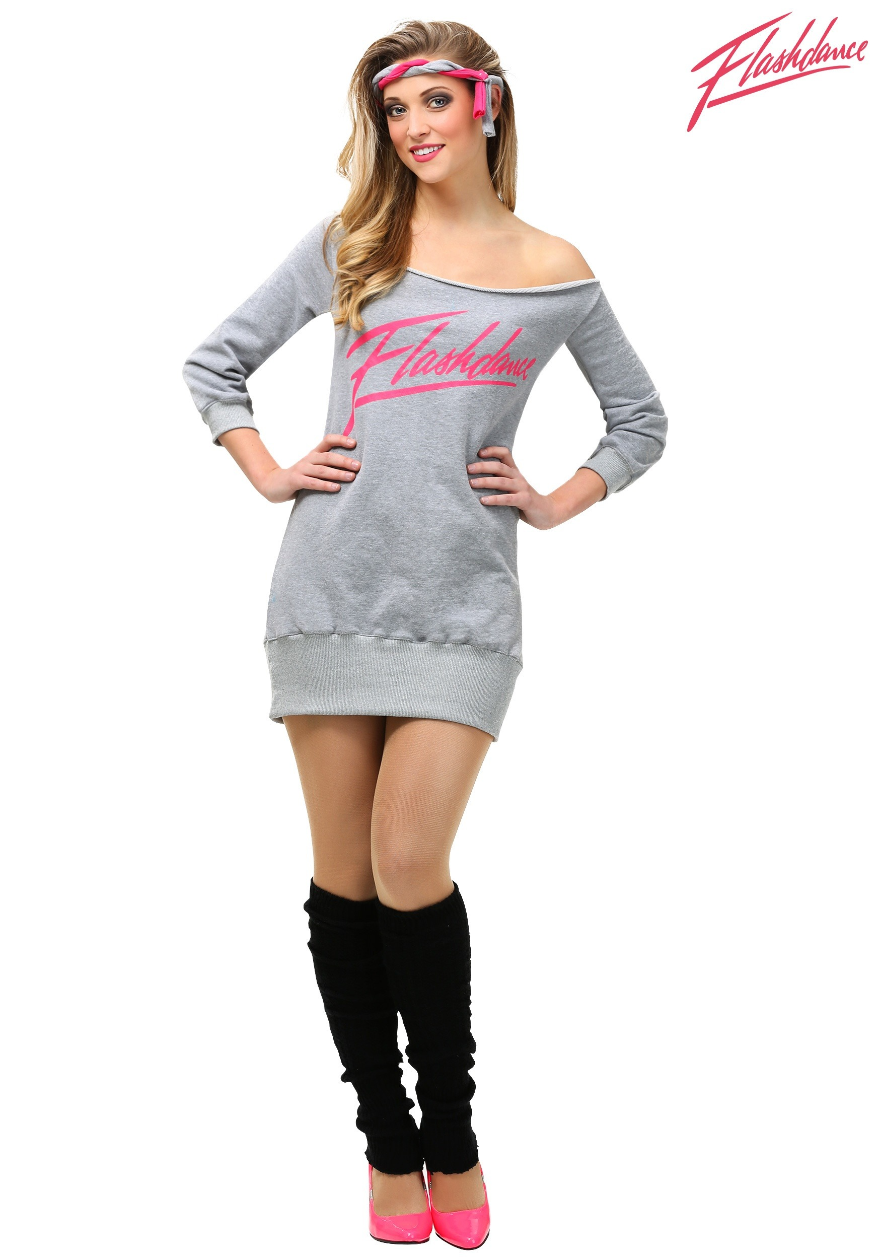 Flashdance women 39 s plus size costume for Cute halloween costumes for 12 year olds