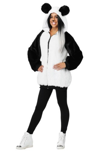 Womens Panda Hooded Jacket Costume