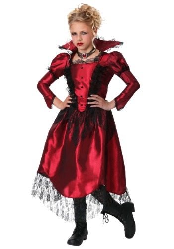 Click Here to buy Classic Vampire Girls Costume from HalloweenCostumes, USA Funds & Shipping