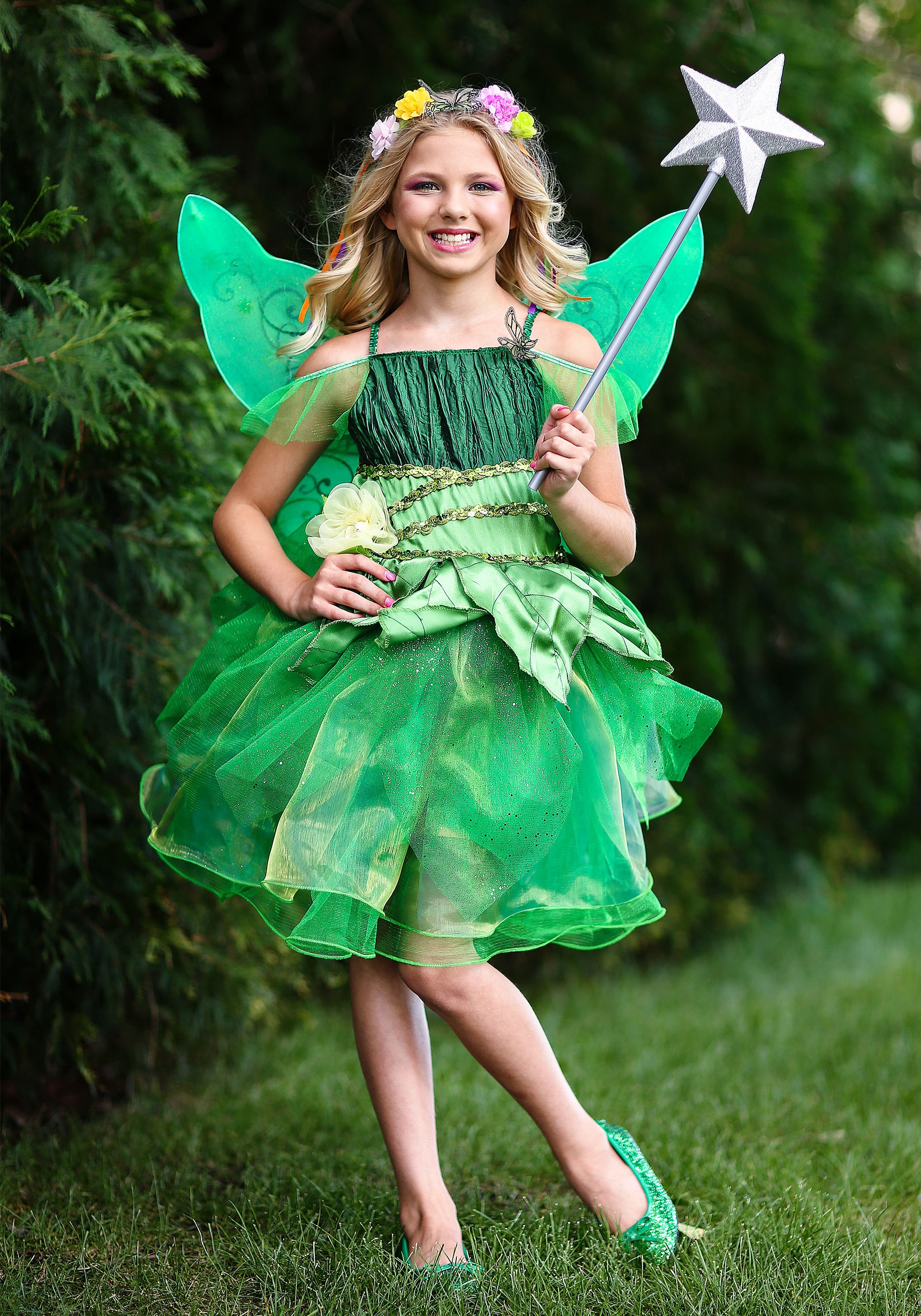 Girls Garden Fairy Costume  sc 1 st  Halloween Costumes : tinkerbell costumes for babies  - Germanpascual.Com