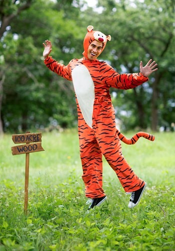 Deluxe Winnie the Pooh Tigger Costume for Adults