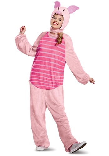 Click Here to buy Winnie the Pooh Piglet Deluxe Costume for Adults from HalloweenCostumes, USA Funds & Shipping
