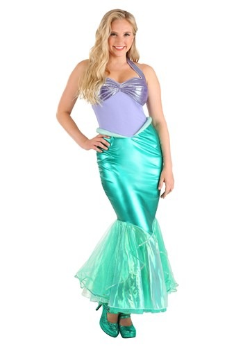 Click Here to buy Disney Little Mermaid Ariel Deluxe Womens Costume from HalloweenCostumes, USA Funds & Shipping