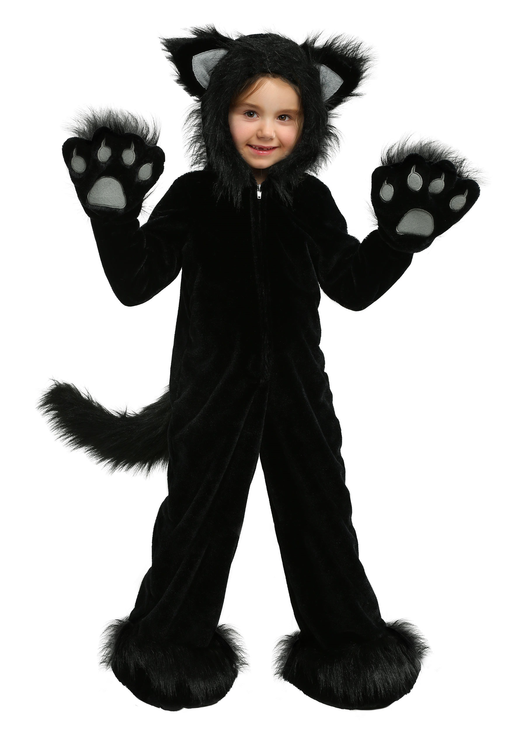 Black Cat Dress, Costume, Hand-made, Cuddly, Furry