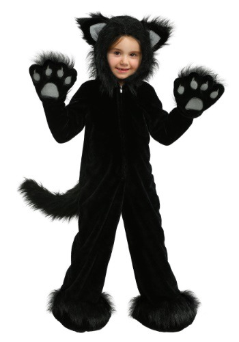 Premium Black Cat Costume for Children
