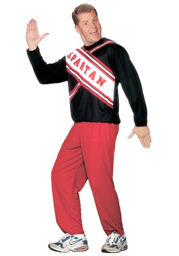 Click Here to buy Mens Spartan Cheerleader Costume from HalloweenCostumes, USA Funds & Shipping