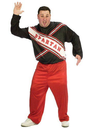 Click Here to buy Plus Size Spartan Cheerleader Costume from HalloweenCostumes, USA Funds & Shipping