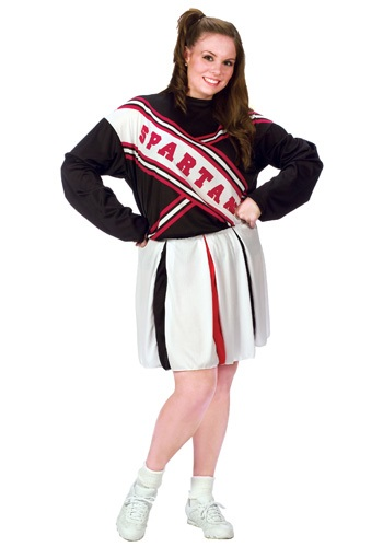 Click Here to buy Plus Size Female Spartan Cheerleader from HalloweenCostumes, USA Funds & Shipping