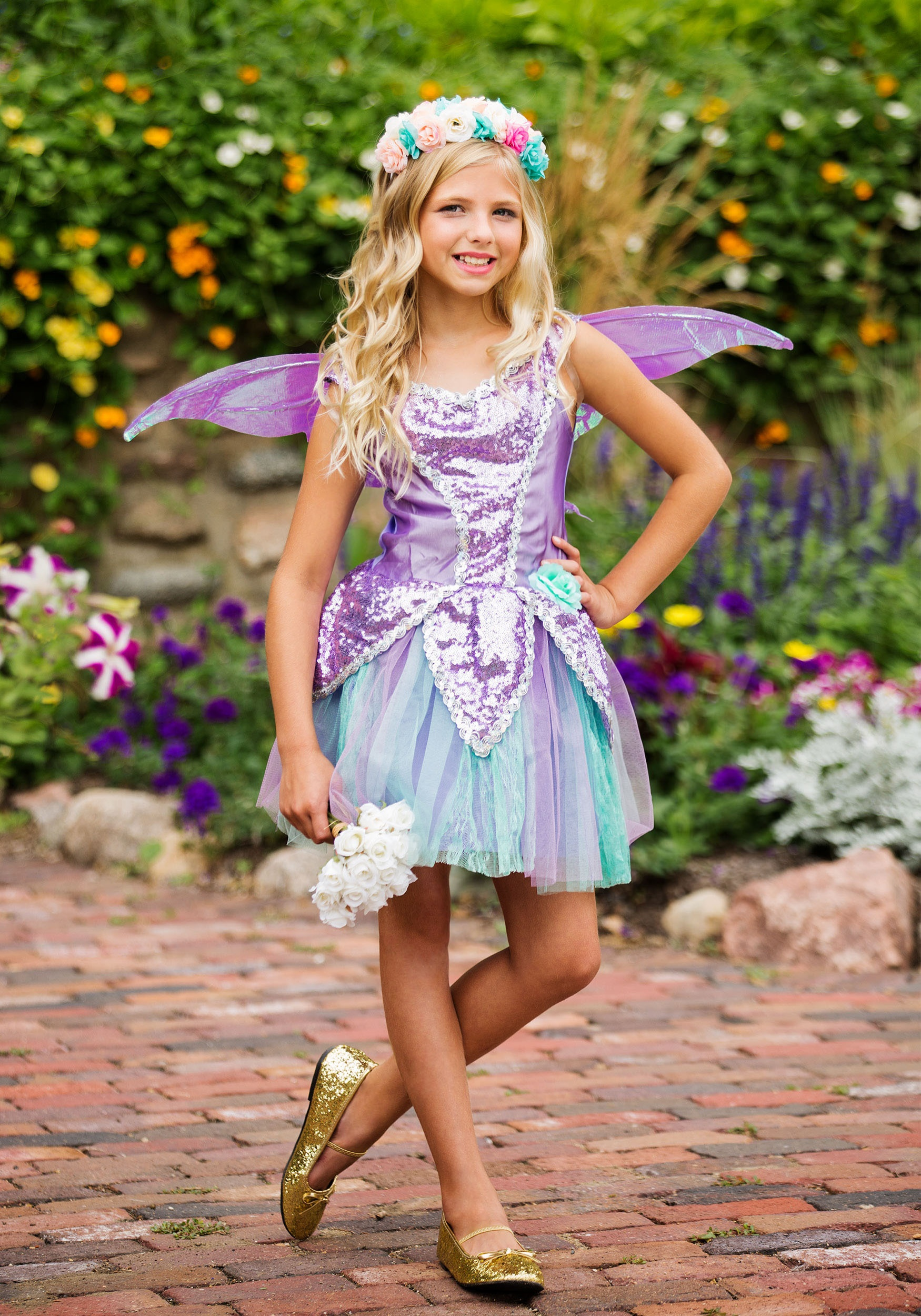 Fun Fairy Girls Costume  sc 1 st  Halloween Costumes & Womens u0026 Kids Fairy Costumes - HalloweenCostumes.com