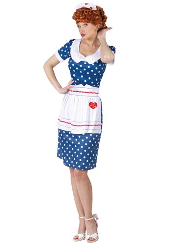 Click Here to buy Sassy I Love Lucy Costume from HalloweenCostumes, USA Funds & Shipping