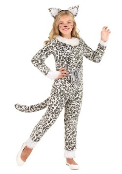 Girl's Snow Leopard Costume 1